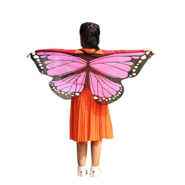 Butterfly Wings  Shawl Kids Boys Girls Costume Accessory