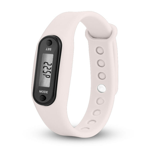 Digital LCD Silicone Wristband Pedometer Run Step  Sport Fitness Watch Bracelet