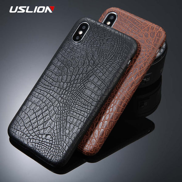 Crocodile Texture Phone Cases PU Leather Back Cover  For iPhone