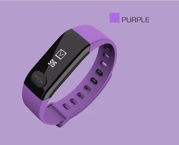 Heart Rate Monitor Fitness Tracker Blood Pressure Bracelet for Android IOS