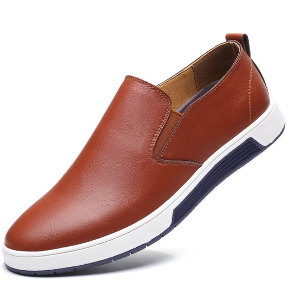 Men Leather Loafer Shoes Fashion Slip On Men's Casual Shoes