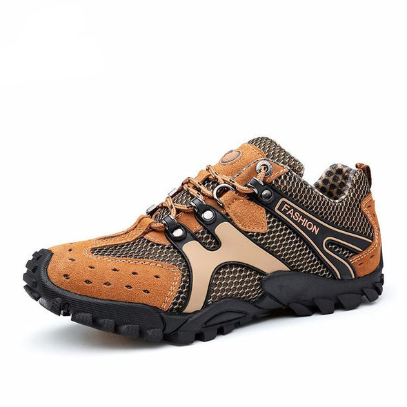 Men Cow Suede Walking Hiking Shoes