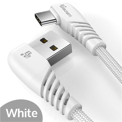 New 90 degree USB Type-C Fast Charging Cord For Samsung