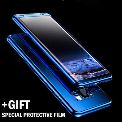 Luxury 360 Degree Protection Plating Mirror Phone Cover For Samsung
