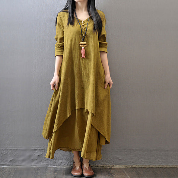 Big Size two Pieces Casual Women Dresses
