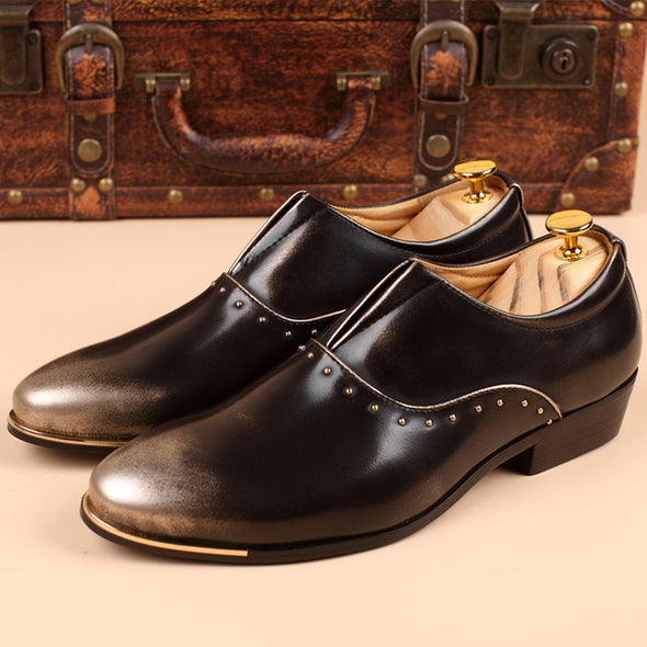 Big Size Formal Shoes PU Leather Oxfords Pointed Toe Men Dress Shoes