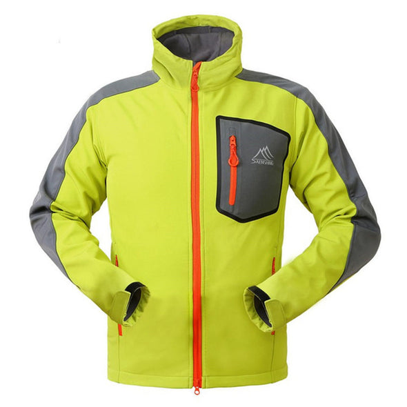 Men's Windbreaker Breathable Waterproof Softshell Jacket