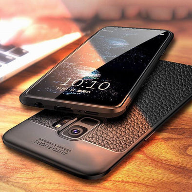 Luxury Litchi Leather Shockproof Matte Phone Cover For Sumsang Galaxy S9/S8 Plus Note 8