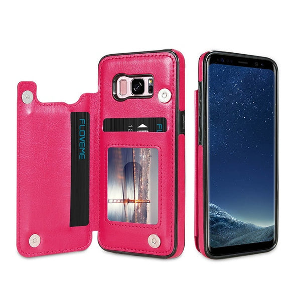 New Card Slot Stander Holder Cases For Samsung Leather Cover