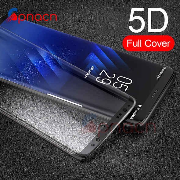 5D Curved Full Cover Tempered Glass Screen Protector For Samsung