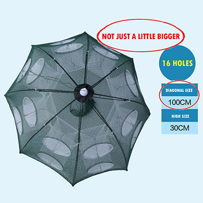 6/8/10/12/20 Holes Nylon 100cm Diagonal Large Automatic Foldable Fishing Net Trap