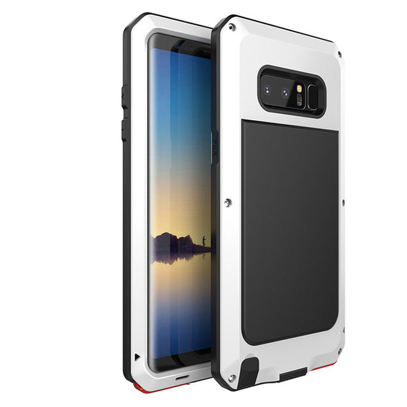 Luxury Doom Armor Dirt Shock Waterproof Metal Aluminum Phone Case For Samsung Galaxy S9 /S9Plus/Note8/S8/S8PLUS + Tempered Glass