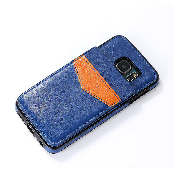 Multi Functional Leather Wallet Card Case Flip Covers For Samsung
