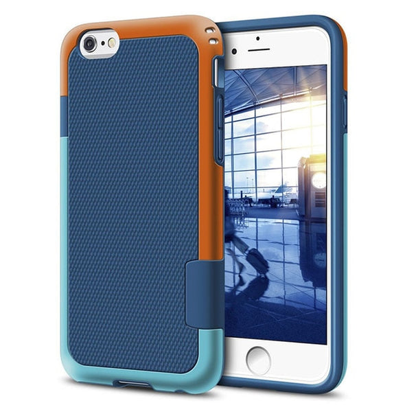 Heavy Duty Hybrid Impact Shockproof Armor Rugged Case For iPhone + Soft Rubber Silicone Phone Cases