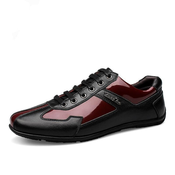 Luxury Brand Fashion Leather Men Casual Shoes Top Quality Big Size