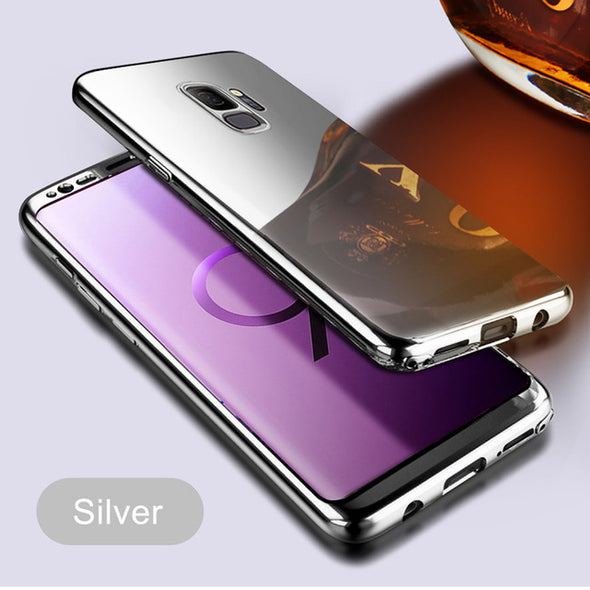 360 Full Protection Plating Mirror Case For Samsung + Free Screen Protector Film