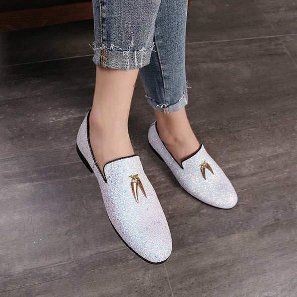 New Fashion Men Liesure Shine Doug Flat Slip-on Dress Shoes