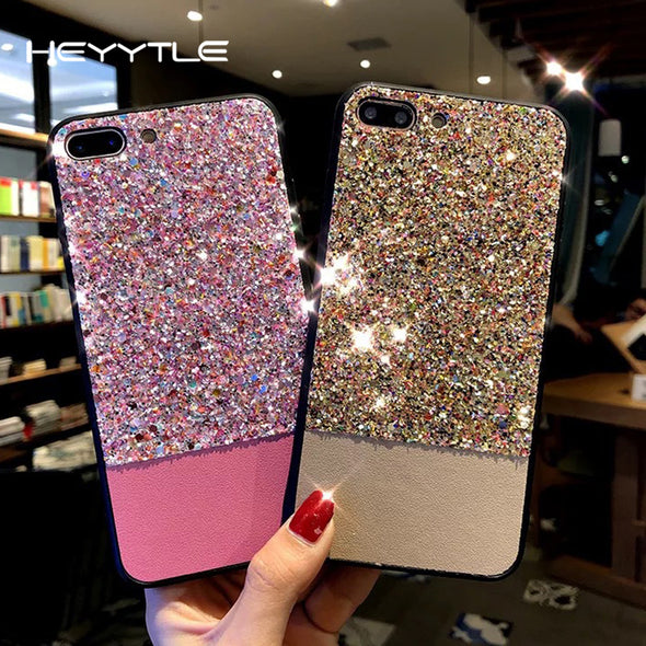 Heyytle Glitter Shining Phone Case For Apple iPhone