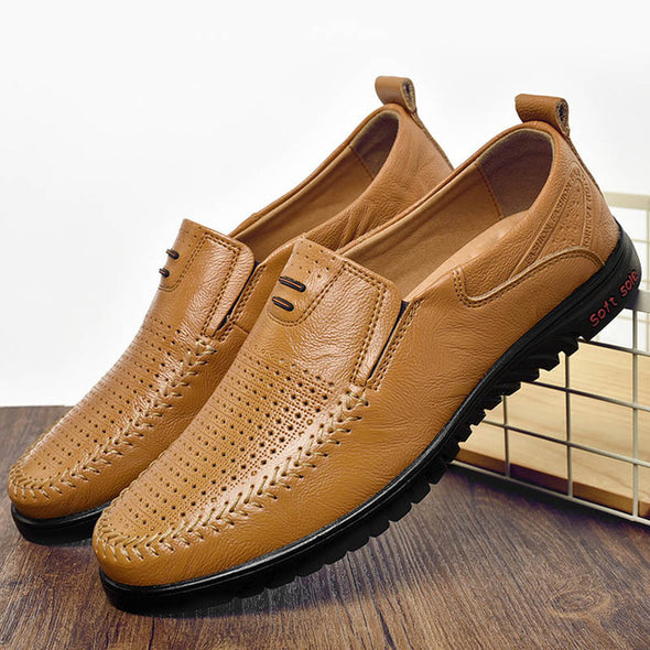 Men's Casual Breathable Comfortable Leather Shoes