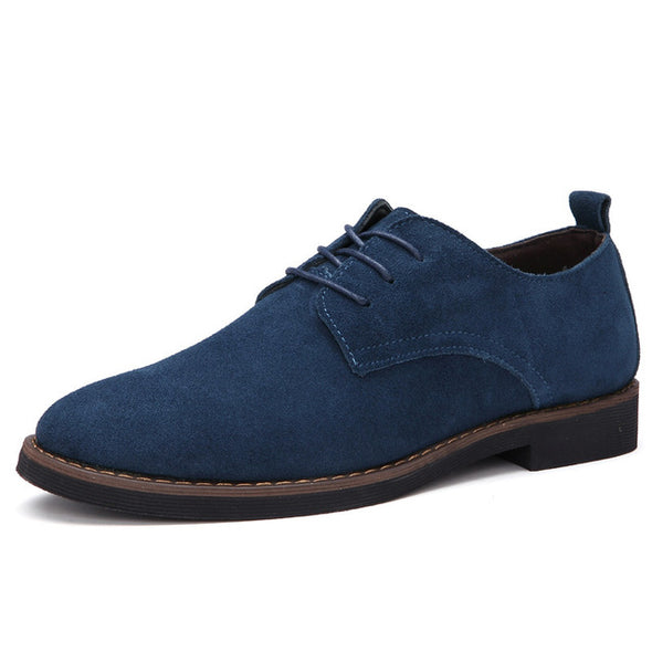 Men Casual Leather Shoes  Suede  Luxury Classic Shoes