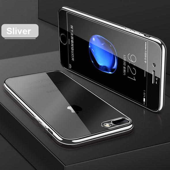 360 Full Cases Silicone Clear Transparent Coque Cover Case For Iphone Case