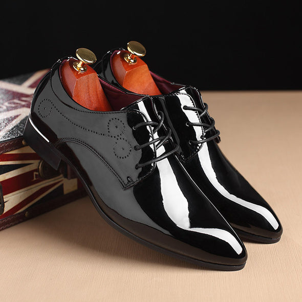 Patent Leather Men  Dress Shoes Pointed Toe Oxfords Shoes