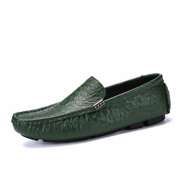 Men Moccasins Slip on Boat Shoes Plus Size