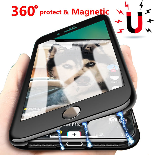 360 Magnetic Adsorption Case Coque Cover Phone Case For iphone