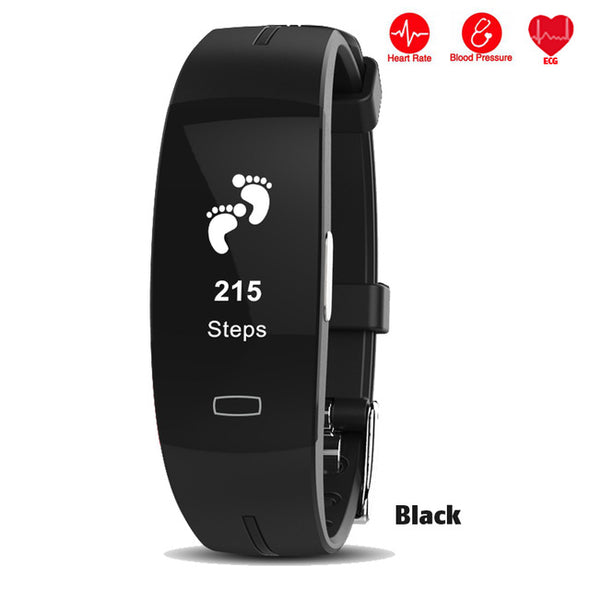 New P3 Smart Band ECG+PPG Blood Pressure Heart rate Monitor Fitness Bracelet