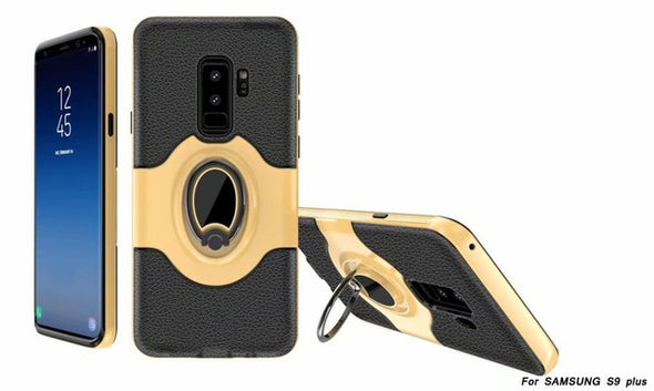 Fashion Case For Samsung Phone Ring Buckle 360 Protective Full Cover Case Magnetic car holder
