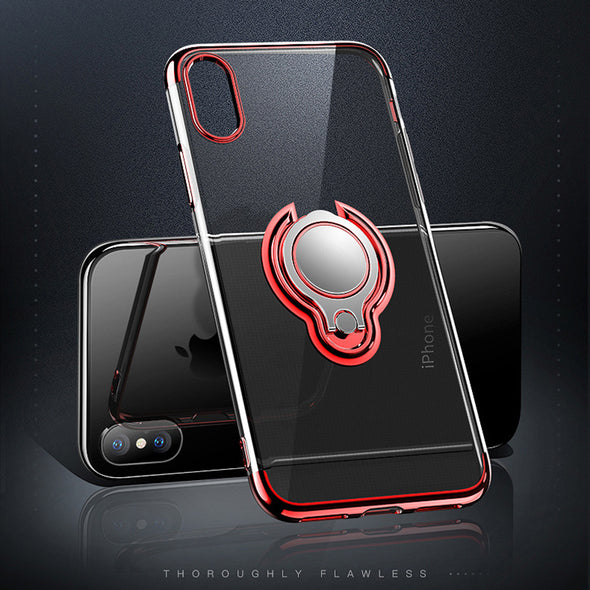 Luxury Crystal Plating HD Clear Kickstand Case For iPhoneX/8/7