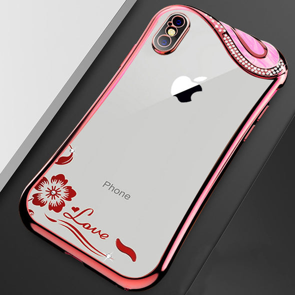 Slim Clear Soft TPU  Fashion Silicone Diamond Case For iPhone