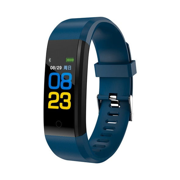 Fitness Heart Rate Blood Pressure Pedometer Sports Wristband Smart Watch