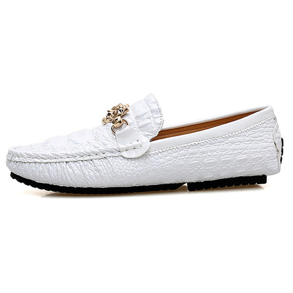 Moccasin Crocodile Style Footwear Slip On Flat Driving Boat Shoes