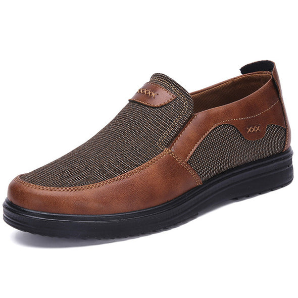 Fashoin Men Casual Shoes Canvas Shoes Breathable Loafers Slip-on Footwear