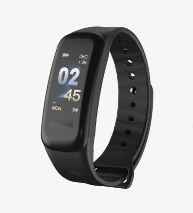 Color Screen Blood Pressure Waterproof Fitness Tracker Heart Rate Monitor Smart Bracelet for Android IOS