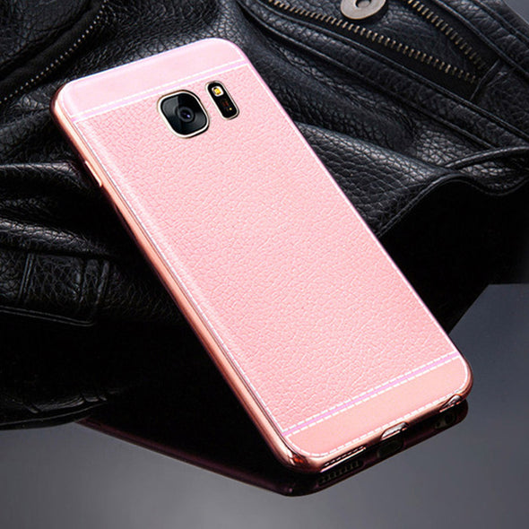 Newest Back Case Leather Soft TPU Cover For Samsung