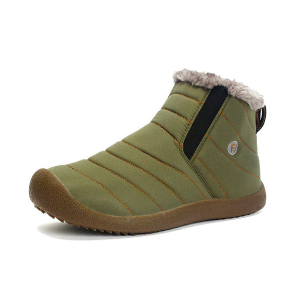 Large Size Waterproof Unisex Fur Lined Slip-on Boots