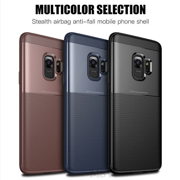 Luxury Full Protect Case For Samsung Case Soft TPU+Hard PC Armor Shockproof Case