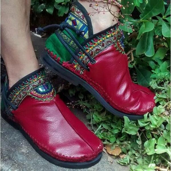 New Casual Handmade Comfortable Women Round Toe Boots