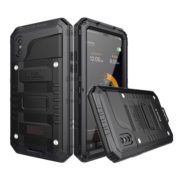 Doom Armor Waterproof Shockproof Heavy Duty Hybrid Case For IPhone(+Tempered glass)