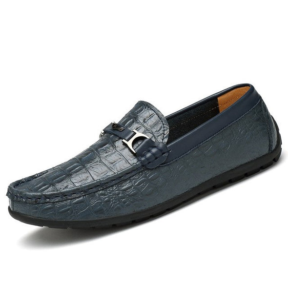 Men Crocodile Pattern Shoes