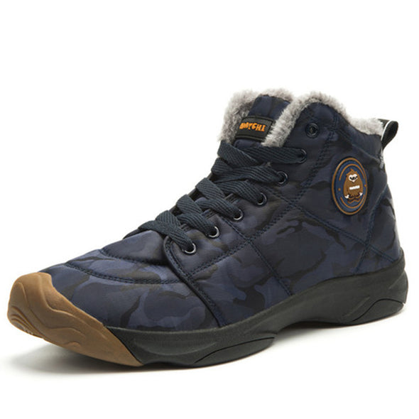 Men's Shoes-Outdoor Ankle Warm Plush Snow Boots