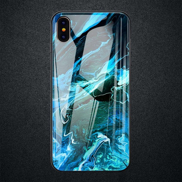 Glass Marble Case For iPhone XR XS XS Max