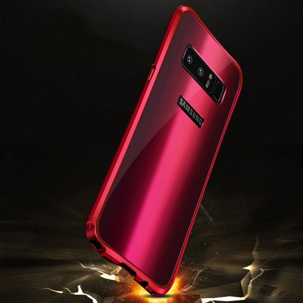 Aluminum alloy metal frame + Acrylic back cover for Samsung