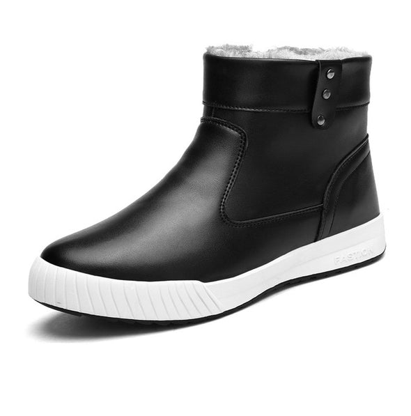 New Fashion PU Leather shoes Men Casual oxfords Winter boots