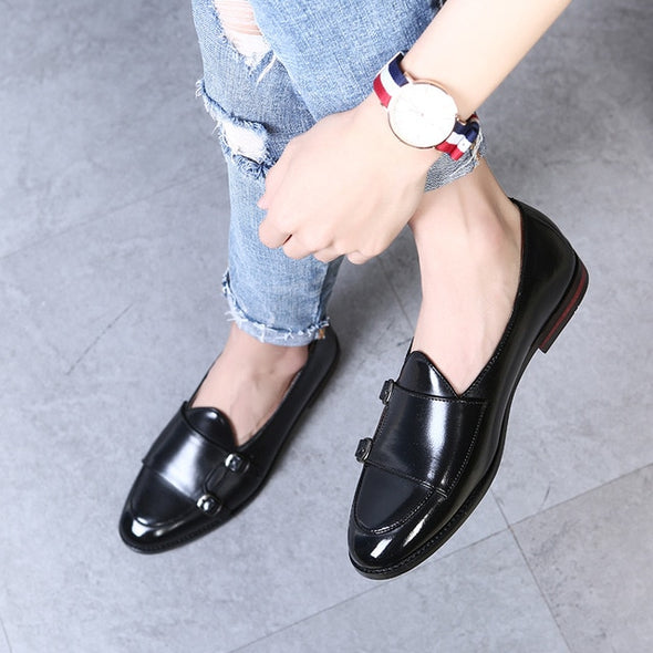 Men Luxury Brand Microfiber Leather Loafers