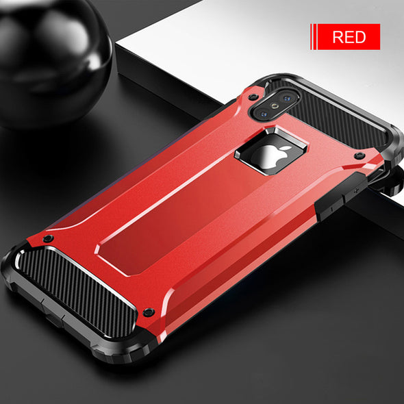 Luxury Hybrid PC & TPU Armor Shockproof Phone Case For iPhone XS/XR/XS Max 8/7 Plus