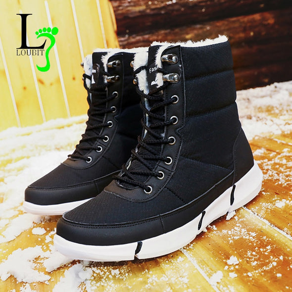 Plus Size Men Waterproof Snow Boots