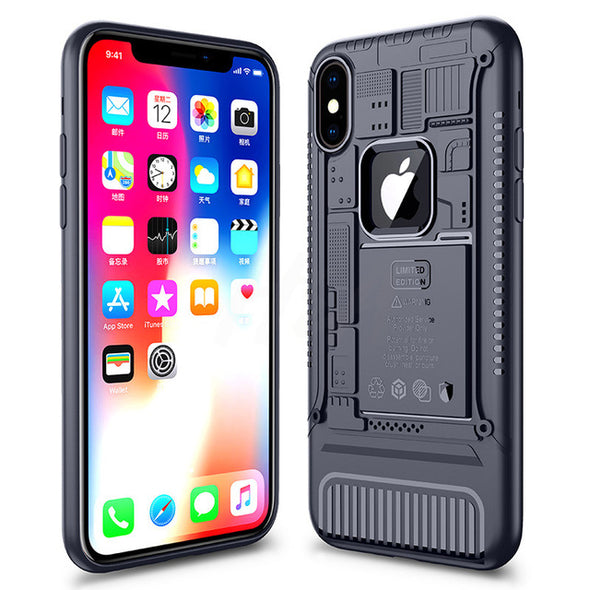 Luxury Heavy Duty Protection Phone Case Silicone Anti-knock Cover For iPhone